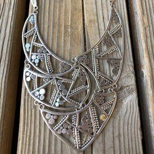 Fabulous Chico's Silver Metal Bib Necklace!